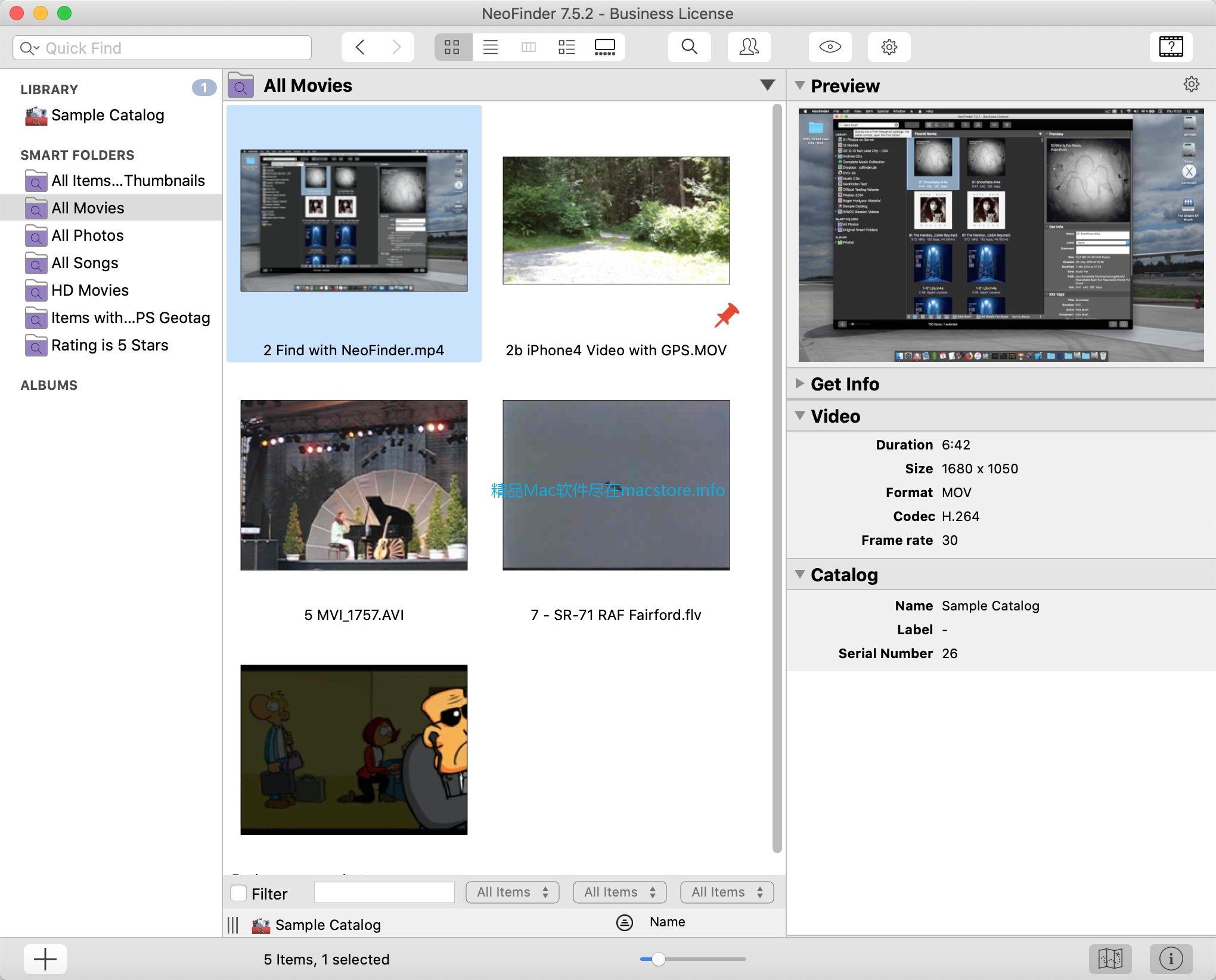 NeoFinder可以方便的管理电影