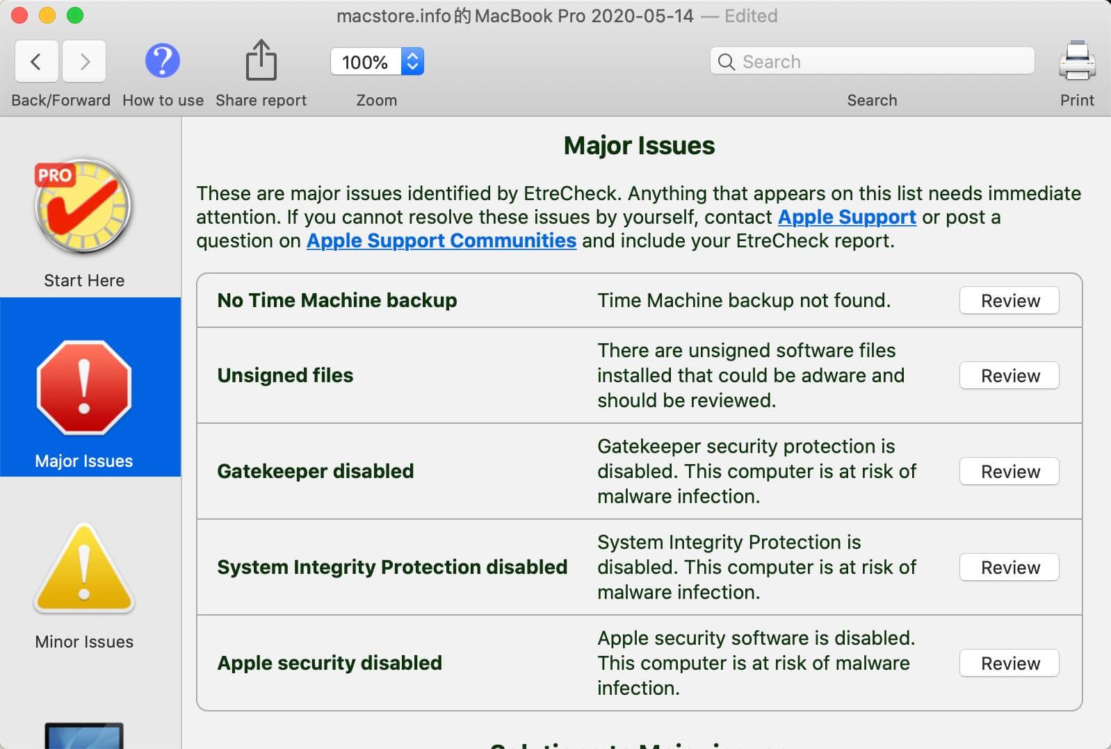 轻松发现Mac的潜在安全性问题并给出改进的建议