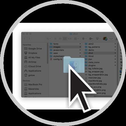 只需单击Finder窗口你就能保存文件啦